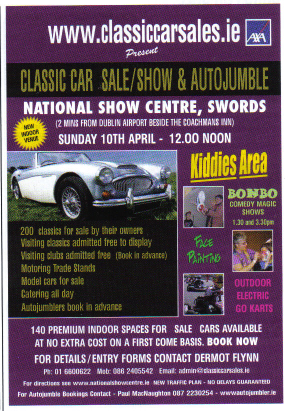 Kilkenny Motor Club Vintage Car Club Kilkenny Ireland CLASSIC - Car show display stand for sale