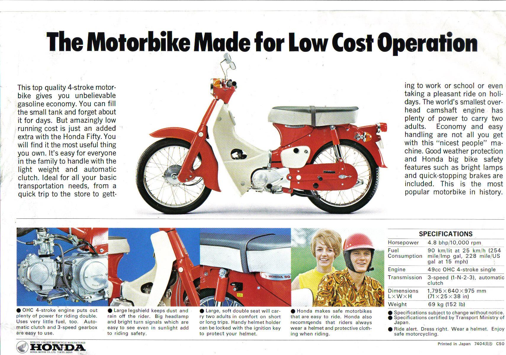 Purchase Honda C50 Handlebar Motorcycle In Saint Paul