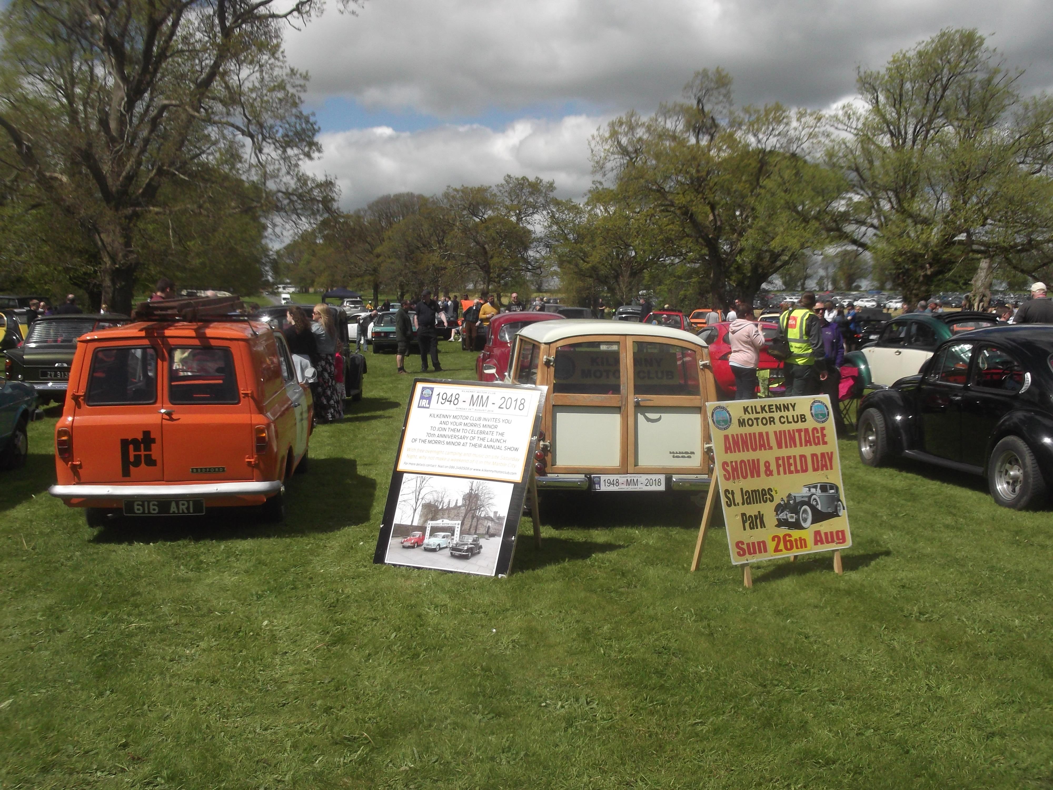 Kilkenny Motor Club Vintage Car Club Kilkenny Ireland WELLS - Bedford car show 2018